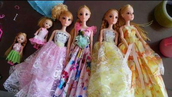 【新年礼物】女孩彩莉天使翅膀洋娃娃芭比娃娃套装公主大礼盒换装婚纱仿真配件鞋子衣服儿童玩具生日3-9岁 10娃6婚纱【眨眼款】:10娃28衣服 晒单图