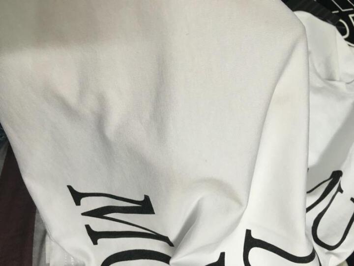 尚衫优倪 短袖t恤女印花 2018春夏新款女装上衣修身打底衫 白色图案款式 XXL码 晒单图