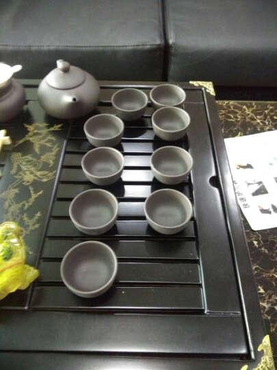 甲馨 紫砂整套功夫茶具套装 陶瓷茶壶茶杯四合一电热磁炉一体实木茶盘套装 黑色喜上梅梢紫砂茶具套装 晒单图