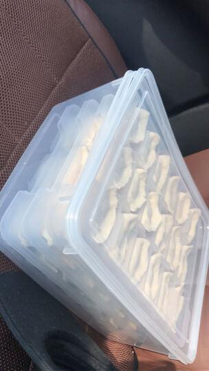 4层大号带盖放速冻饺子分格收纳盒大容量多层冰箱冷藏冷冻保鲜装水饺馄饨干货日本家用塑料不粘长方形托盘盒 晒单图