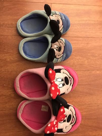 和居家  迪士尼儿童棉拖鞋冬季男童女童家居家用室内棉鞋包跟 米奇-宝蓝-包跟 26/27码(内长17CM) 晒单图
