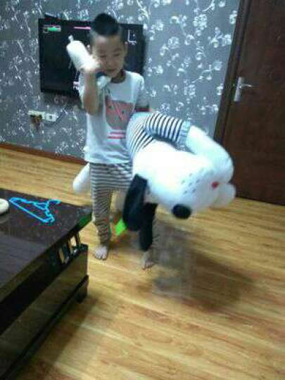 芊芊熊 超柔爱心狗毛绒玩具狗玩偶布娃娃 抱枕公仔靠垫 儿童节礼物 代写卡片 灰色-深蓝毛衣 1.5米 晒单图