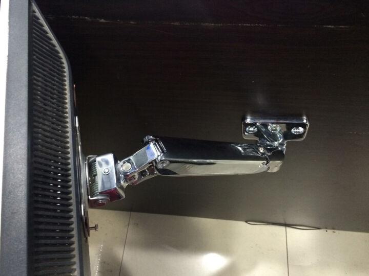 NB F150 (17-27英寸) 液晶电脑显示器支架桌面多功能旋转壁挂显示器支架底座自由升降伸缩架 银色 晒单图