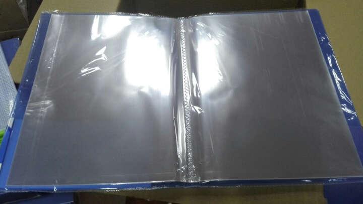 得力(deli)彩色半透镜面超透内页A4资料册文件册/文件袋-30页 深蓝 晒单图