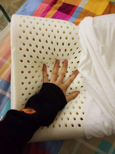 梦极枕头天然乳胶枕头泰国进口橡胶记忆按摩颈椎护颈枕芯套装 【泰式大颗粒枕】59*38*11/13CM 晒单图