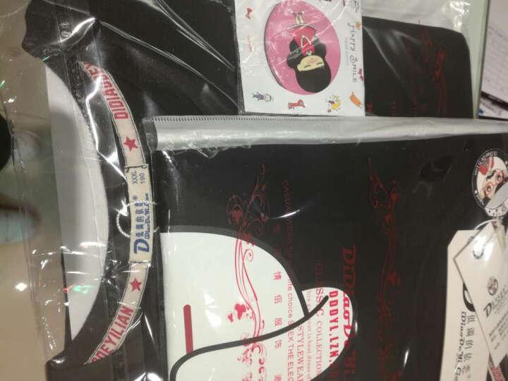 恋着你情侣装夏2018韩版半袖女学生卡通圆领t恤上衣D57 黑色插肩袖 男L(建议110-125斤) 晒单图