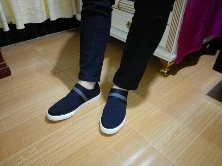 拉斯卡拉 男鞋运动休闲鞋子 男板鞋透气老北京布鞋男鞋套脚 xie 蓝色 42皮鞋码 晒单图