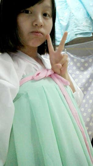七仙女古装服装唐装汉服嫦娥仙女服齐胸襦裙摄影艺术写真 浅绿色 XL 晒单图