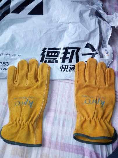 康友 (KPRO)电焊手套 牛二层司机手套 防护手套 工作劳保 5019 M 晒单图