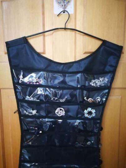 挂袋收纳袋 LBD小礼服首饰储存袋 创意首饰收纳袋 黑色 晒单图
