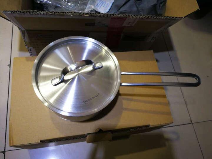 Momscook 不锈钢奶锅 小汤锅复底加厚小奶锅煮热牛奶锅电磁炉小锅 16x9.5cm 1.5L奶锅(TL1609D) 晒单图