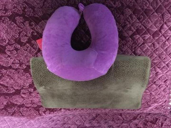 【苏之润】慢回弹护颈记忆枕头太空记忆棉保健颈椎枕健康睡眠枕芯枕头 (竹炭款)木槿紫 晒单图