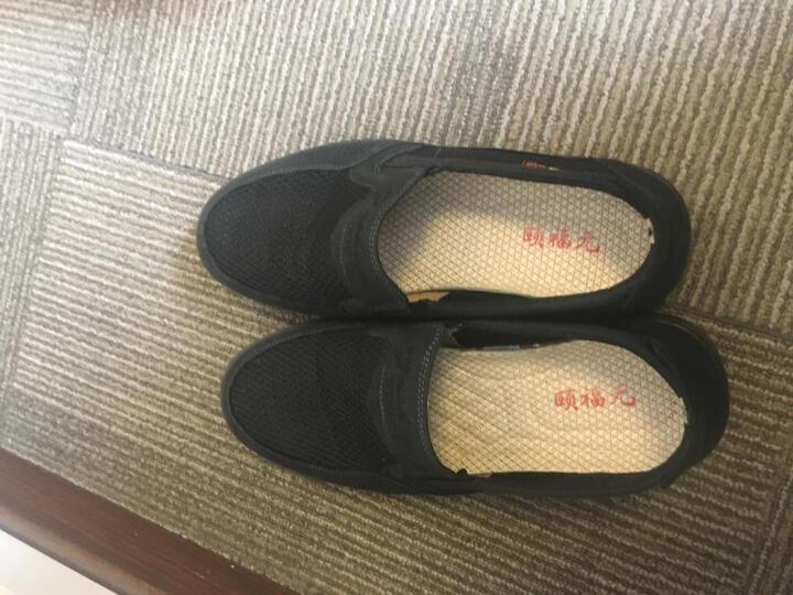 颐福元老北京布鞋男春秋休闲鞋爸爸鞋套脚单鞋透气轻便户外鞋 黑色 40 晒单图