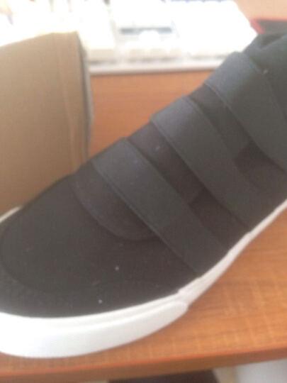帆布鞋男 秋季新品男士运动休闲板鞋 透气小白鞋高帮系带帆布鞋男鞋子 拉链黑色 42 晒单图