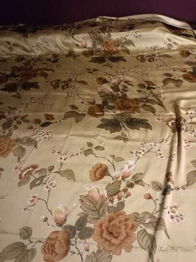 枕水人家真丝四件套 100%桑蚕丝 婚庆套件 床上用品 丝绸被套 双面真丝 复古情缘 220X240(CM) 晒单图