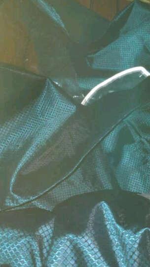 天堂电动车雨衣 单双人两用摩托车雨披男女成人加大加厚电瓶车电动自行车雨衣 绿色 晒单图