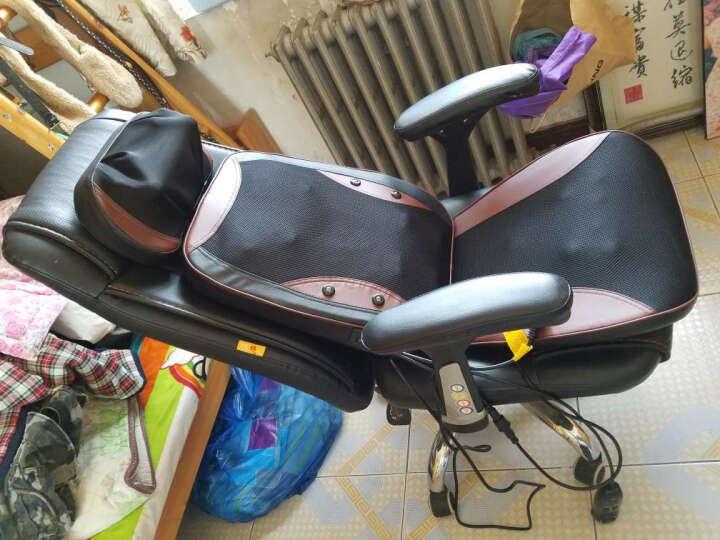 绿豆芽 可躺老板椅 电脑椅 办公椅 家用 皮椅 可选真牛皮椅子 人体工学转椅座椅D1518 黑色pu皮+170度可躺+搁脚 钢制脚 晒单图