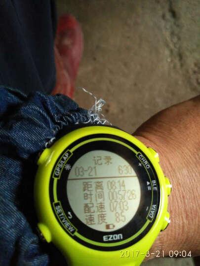 宜准(EZON)超薄智能手表E1 GPS轨迹心率跑步防水电子手表 户外登山中性运动表男女 E1A14蓝 晒单图