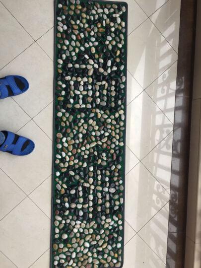 鹅卵石足底按摩垫指压板石子路脚底按摩垫按摩走毯雨花石 花色 普密 晒单图