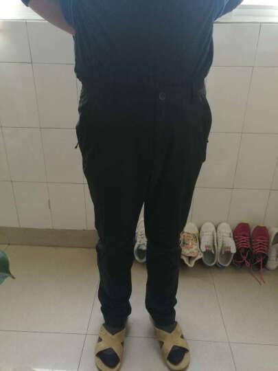 诺诗兰(NORTHLAND) 诺诗兰速干裤男春夏户外运动休闲弹力长裤GQ065701 男-黑色5701 XL 晒单图
