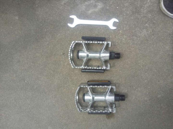 忍者风通用全铝合金山地车脚蹬自行车脚踏防滑踏板改装配件 银色铝脚蹬一对 晒单图