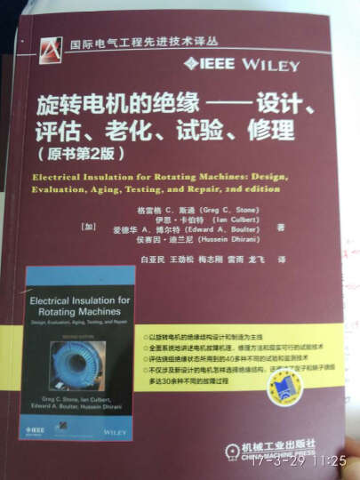 旋转电机的绝缘 设计、评估、老化、试验、修理(原书第2版) 晒单图