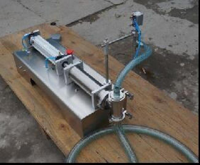 鑫凯驰(XINKAICHI) 液体灌装机定量气动式灌装机小型饮料白酒化妆品汽油分装机 单头液体 5-100ml 晒单图