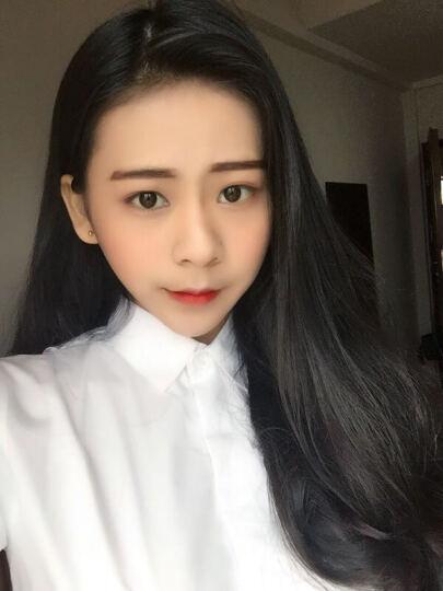 沐晴轩 2021新款春秋冬韩版大码女装打底职业装长袖白衬衫女学生衬衣 长袖白色103款 L 晒单图