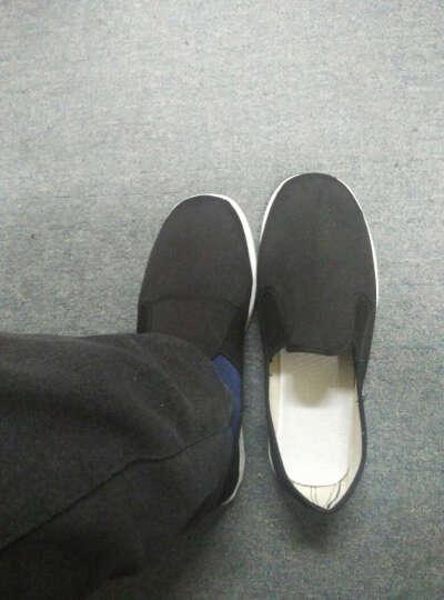 土声土色老北京布鞋千层底休闲舒适透气中国风男鞋 X2 经典圆口 39 晒单图