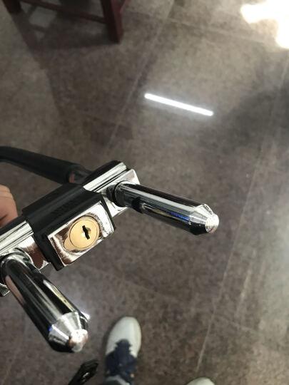 好汉 玻璃门锁u型锁防盗加长插锁U形车锁门锁锁具 301C-36实心6把钥匙 晒单图