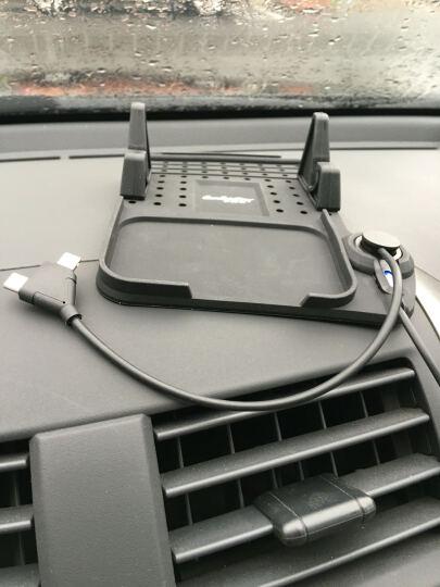 先科(SAST)车载充电器 车充点烟器 AY-T52S灰色 3.4A双USB一拖二 电压检测LED数显 带伸缩数据线 晒单图