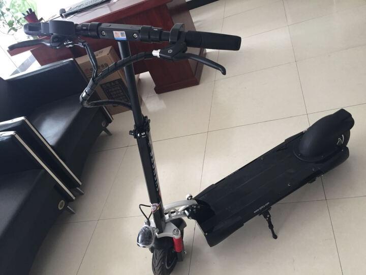 升特shengte电动滑板车 可折叠迷你电动车 成人锂电便携城市代步车代驾车 18.2AH 续航45-55km 炫酷黑 晒单图