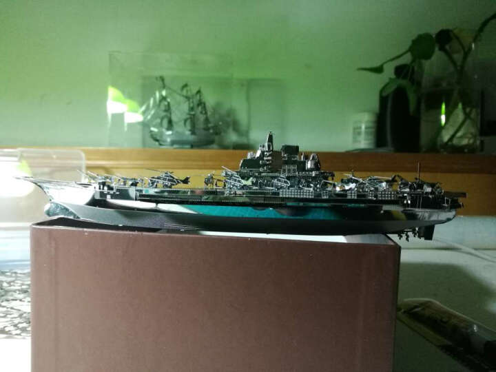 3D金属立体拼图合金拼装拼插模型玩具DIY手工创意礼品古建筑模型家居摆件饰品 德国卡尔列列车炮-银色(送拼装工具) 晒单图