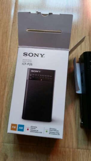 Sony/索尼便携式收音机ICF-P26 ICF-306半导体老年人调频双波段AM/FM 时尚黑 晒单图