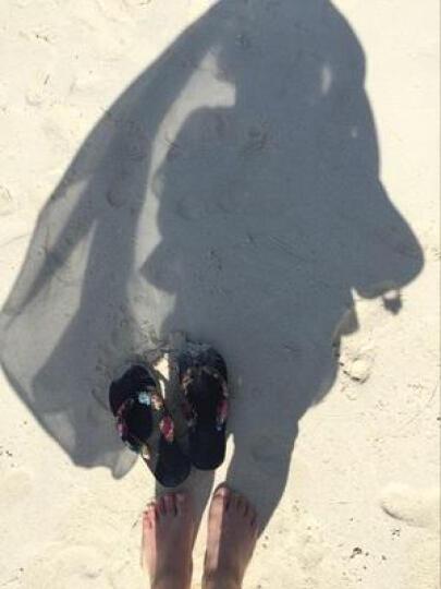 优品鞋靴 凉拖鞋女夏季沙滩外穿拖鞋人字拖鞋中跟厚底凉拖鞋厚底浴室拖鞋 绿色 250(38-39)偏小半码 晒单图