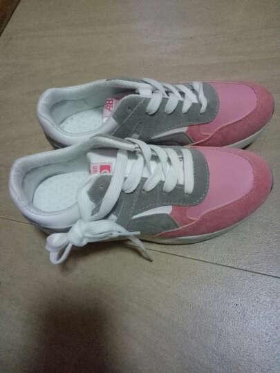 EEIMU女鞋2017新款休闲鞋女厚底板鞋运动鞋韩版跑步鞋旅游鞋 Y-8粉色 39 晒单图