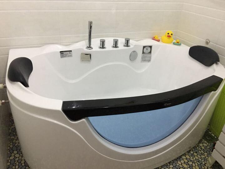 果敢卫浴亚克力冲浪按摩恒温加热浴盆双人浴缸家装节成人  多规格可选 831 冲浪+彩灯气泡+恒温+电脑板+排污 1.7米 晒单图