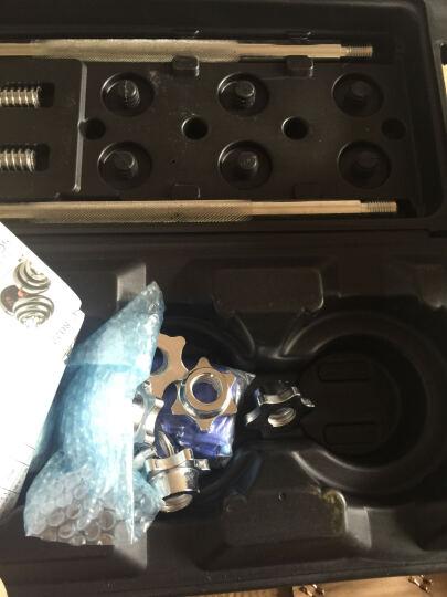 双牌 电镀哑铃杠铃50公斤礼盒装男士健身运动器材家用哑铃组合套装 晒单图