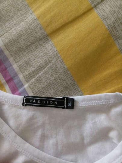 诺雷登 短袖T恤男2017春季新款圆领修身纯色男士纯棉短袖T恤 潮流时尚T恤男 黑色 XL 晒单图