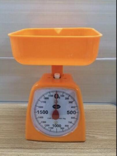弹簧秤家用机械秤厨房秤面粉秤托盘秤小秤鸡柳秤台秤克度秤圆盘秤 橙色1kg 晒单图