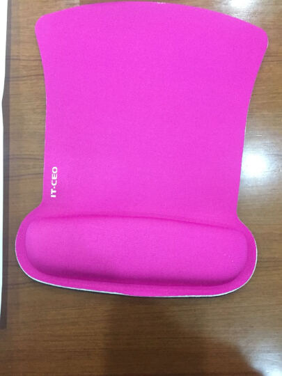 IT-CEO X4SB-14 加厚商务护腕鼠标垫子 布面腕托 人体工学键盘鼠标手腕垫手枕 适用办公桌面/激光鼠标 黑色 晒单图