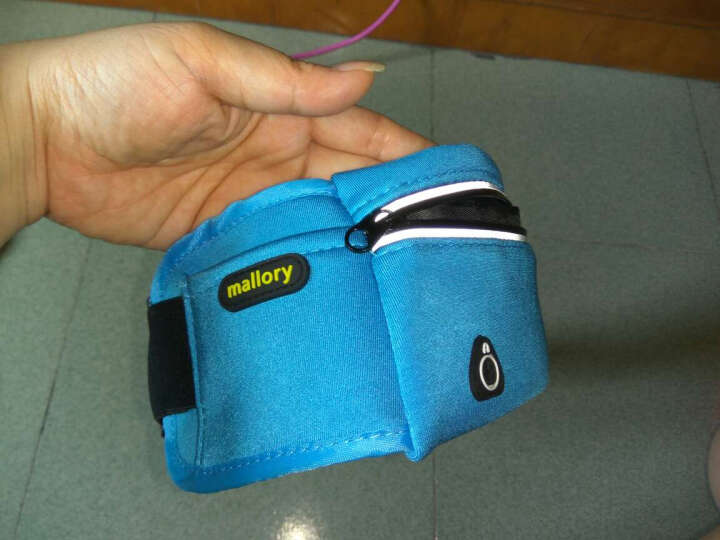 马洛里 户外运动腰包 跑步登山骑行腰包 防盗健身隐形腰包男女手机腰包 大号 蓝色 晒单图