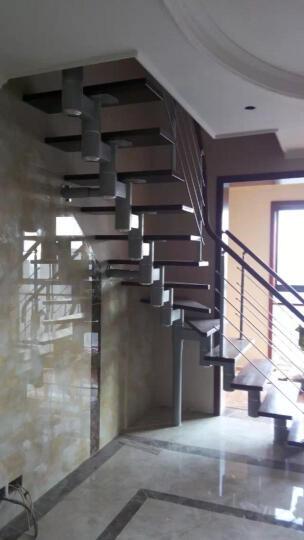 蓝伦索 室内家用钢木脊索复式楼梯 定制楼梯 楼梯扶手 38mm踏板+扁圆、玛丽柱189元/踏 晒单图