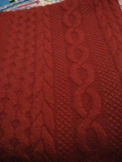 全棉针织布料 加厚单面磨毛布 仿羊毛保暖柔软打底衫卫衣服装面料 复古风外套披巾仿毛线面料 6深灰 晒单图