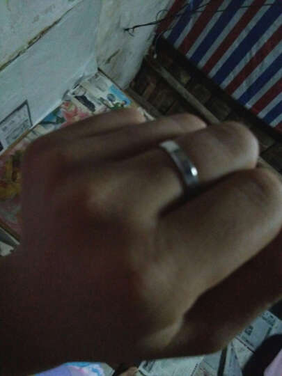 银博汇 925银对戒情侣戒指环一对价韩版婚戒银饰男女对戒子免费刻字 爱你如初款 (调节版适合任何手指戴 晒单图
