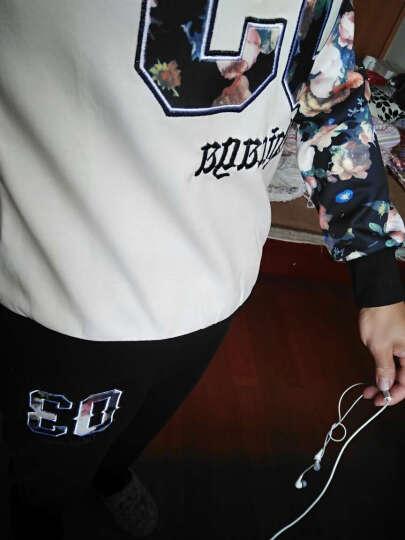 时尚欧陆 2018春秋新款上新女装修身显瘦大码宽松连帽三件套时尚休闲卫衣套装女A002 粉色 L 晒单图