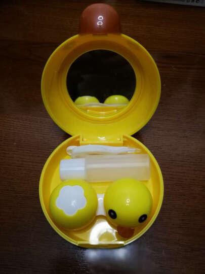 隐形眼镜盒 卡通护理盒双联盒大白小黄鸭 大黄鸭 双联盒 晒单图