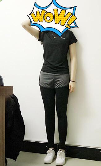 凯萱丝 春夏新款瑜伽服套装女短袖上衣运动文胸背心跑步服健身服 女瑜伽服四件套Y081 Y100黑白三件套 L(建议105-120斤) 晒单图