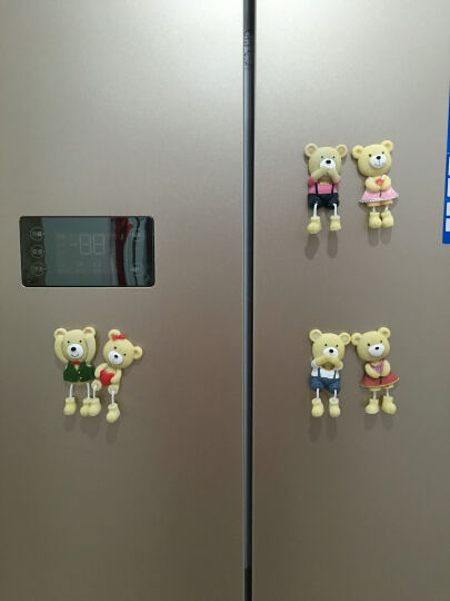 两件包邮-颐然(YIRA) 创意包邮韩国卡通树脂儿童可爱小熊磁铁立体贴磁铁吊脚娃娃冰箱贴 爱心熊(红色) 高9CM*宽4.5CM 晒单图