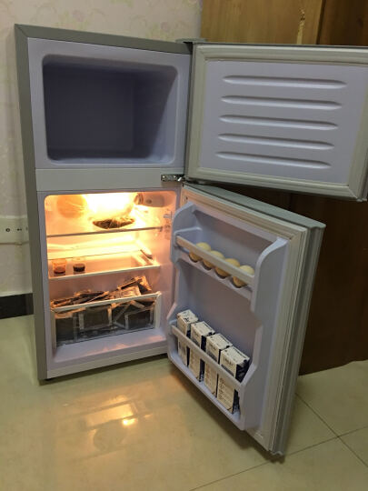 樱花(SAKURA) 樱花 BCD-56 双门 迷你 小型电冰箱 家用冷藏冷冻冰箱 银色 晒单图